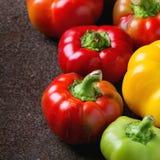 五颜六色的辣椒粉胡椒品种  免版税库存照片