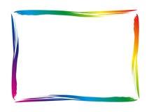 五颜六色的边界 库存图片