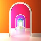五颜六色的远期的拱道。 库存例证