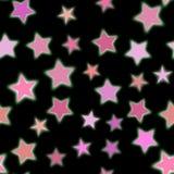 五颜六色的透明无缝的星背景 免版税库存图片