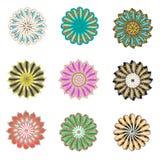 五颜六色的通报设计 免版税库存图片