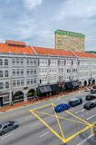 五颜六色的遗产大厦在新加坡唐人街 库存照片