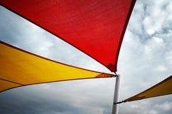 五颜六色的遮篷 免版税库存照片