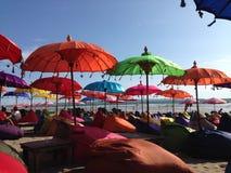 五颜六色的遮阳伞 库存图片