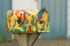 五颜六色的邮箱 库存图片
