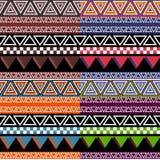 五颜六色的部族样式 库存图片