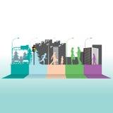 五颜六色的都市life1 库存照片