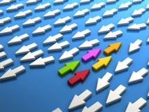 五颜六色的配合 免版税库存图片