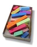 五颜六色的配件箱颜色柔和的淡色彩 免版税库存照片