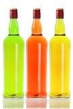 五颜六色的酒精饮料 免版税库存图片
