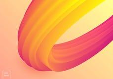 五颜六色的醇厚的传染媒介波浪 免版税库存照片