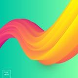 五颜六色的醇厚的传染媒介波浪 免版税库存图片
