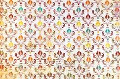 五颜六色的重复样式锦缎墙纸 免版税库存图片