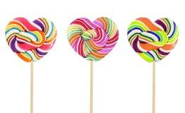 五颜六色的重点棒棒糖减速火箭的形状样式 免版税库存照片