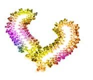 五颜六色的重点珠宝开放被仿造的形&# 库存图片