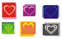 五颜六色的重点 免版税库存照片