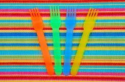 五颜六色的野餐商品 免版税库存照片