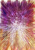 五颜六色的金字塔纹理 图库摄影