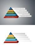 五颜六色的金字塔结构 皇族释放例证