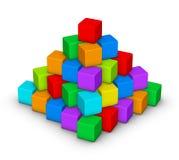 五颜六色的金字塔 图库摄影