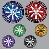 五颜六色的金属圈子最佳的象 免版税库存照片