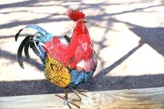 五颜六色的金属雄鸡 图库摄影