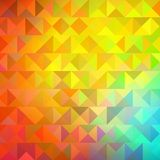 五颜六色的金黄几何背景 传染媒介EPS 10 免版税库存照片