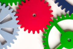 五颜六色的钝齿轮 免版税库存照片