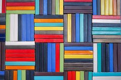 五颜六色的钢墙壁的秀丽 库存照片