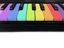 五颜六色的钢琴 库存图片