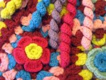 五颜六色的钩针编织 图库摄影