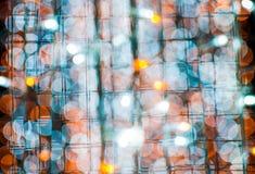 五颜六色的铁丝网bokeh背景 免版税库存图片