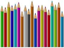 五颜六色的铅笔传染媒介背景 库存照片
