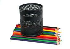 五颜六色的铅笔和支持 库存照片
