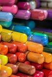 五颜六色的铅笔垂直的马赛克  免版税图库摄影