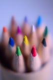 五颜六色的铅笔宏观背景纹理  免版税库存图片