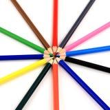 五颜六色的铅笔星形 库存图片