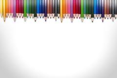 五颜六色的铅笔框架09 免版税库存照片