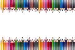 五颜六色的铅笔框架10 免版税库存图片