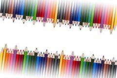 五颜六色的铅笔框架12 库存图片