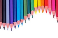五颜六色的铅笔波浪 库存图片