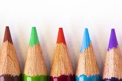 五颜六色的铅笔点 免版税库存照片