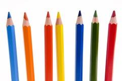 五颜六色的铅笔的 免版税图库摄影