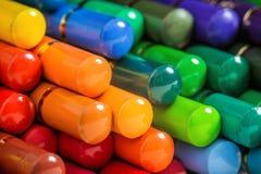 五颜六色的铅笔马赛克  免版税库存图片