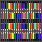 五颜六色的铅笔,多色的铅笔设置了,上色铅笔背景 免版税库存照片