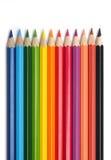 五颜六色的铅笔 免版税库存图片