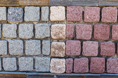 五颜六色的铺路石 免版税库存照片