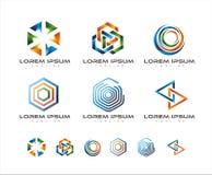 五颜六色的链接商标设计 皇族释放例证