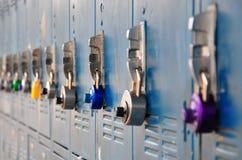 五颜六色的锁定 免版税库存照片