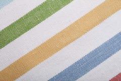 五颜六色的镶边纺织品特写镜头作为背景的 图库摄影